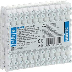 UNITEC 12 x 1.5 - 2.5 mm² Kytkentärima 10 kpl