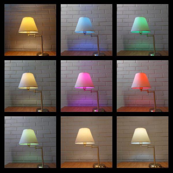 UNITEC WiFi LED Älylampun erilaisia värivaihtoja | Masco Oy