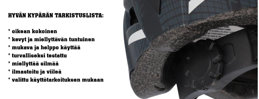 Fischer pyöräilykypärät | Hyvän pyöräilykypärän tarkistuslista | Masco Oy Järvenpää